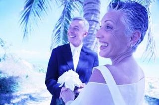 Older couple wedding