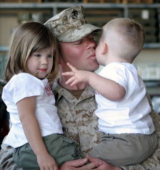 Soldier with Children